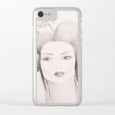 Japanese girl. Clear iPhone Case