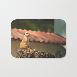 Meerkat Funny Observer #decor #society6 Bath Mat