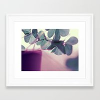 clover Framed Art Prints featuring clover by Ingrid Beddoes