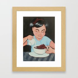 Eat It (Before It Gets Cold) Framed Art Print