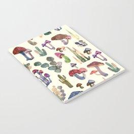 mushrooms and cactus Notebook