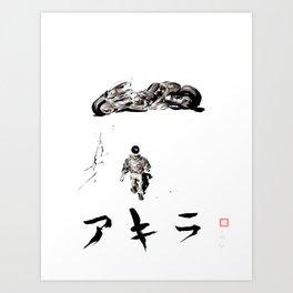 Akira - Kaneda, The Capsules, Motorcycle, Neo Tokyo Art Print