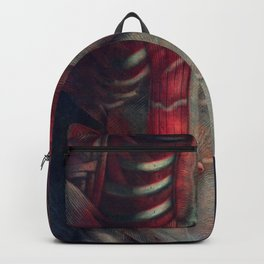 Anatomy art PECTORALS RIB MUSCLE dark art, gothic home decor, gothic decor, gothic wall decor, medic Backpack