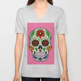 Colorful Skull VII Unisex V-Neck