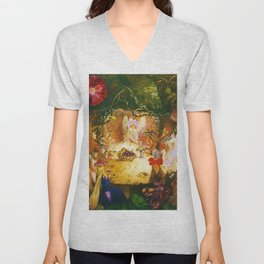 The Fairies Banquet Magical Realism Landscape by John Anster Fitzgerald Unisex V-Neck