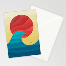 062 - The perfect summer wave Stationery Cards