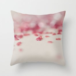 Scattered Hearts Throw Pillow