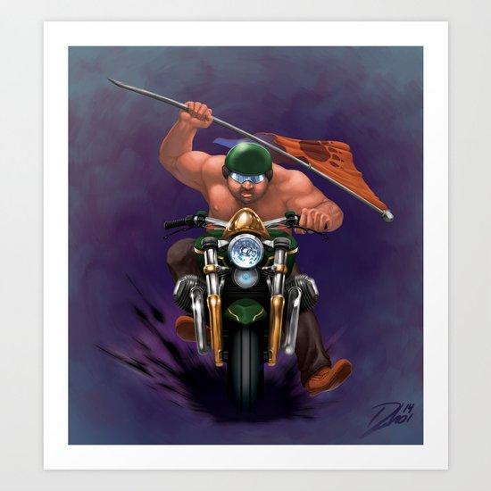 Bear Biker Art Print