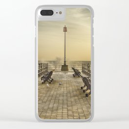February Sunrise over Swanage Jetty Clear iPhone Case