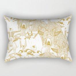 just goats gold Rectangular Pillow
