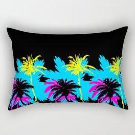 CMYK Palm Trees - Blackdrop Rectangular Pillow