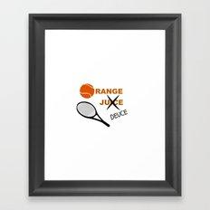 Orange Deuce Framed Art Print