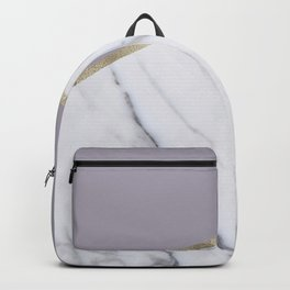 Smokey lilac - gold geometric marble Backpack