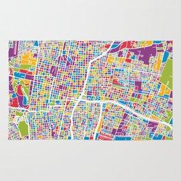 Mendoza Argentina City Street Map Rug