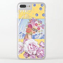 Time to fly Clear iPhone Case