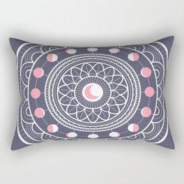 Moon Mandala Rectangular Pillow