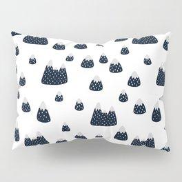 Abstract black white watercolor brushstrokes modern pattern Pillow Sham