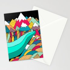River in the mountains Stationery Cards