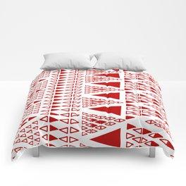 Zig Zag Pattern -  brick red Comforters