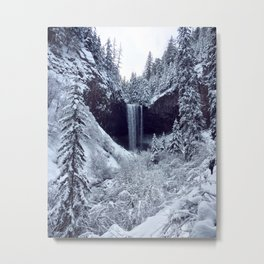 Snowy Tamanawas Falls Metal Print