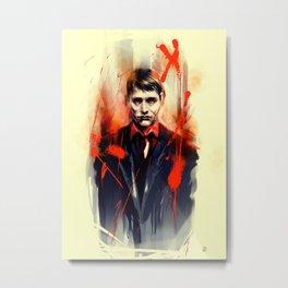 Mads Mikkelsen * Hannibal Lecter Metal Print