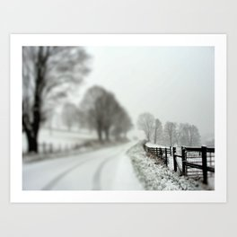 cold fence Art Print