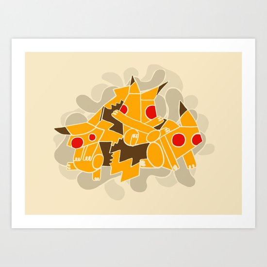 Cubismoon Art Print