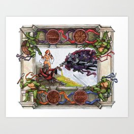The Creation of Awesome Art Print