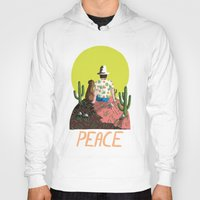 peace Hoodies featuring Peace by Colourbox