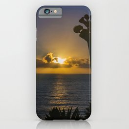 Sunburst Sunset from  C o r o n a   Del Mar iPhone Case