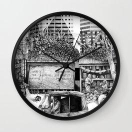 Jakarta street drawing Wall Clock