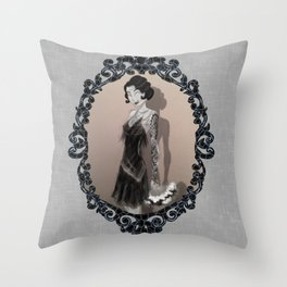 If Flappers Wore Ink Throw Pillow