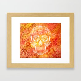 Muertos Red Framed Art Print