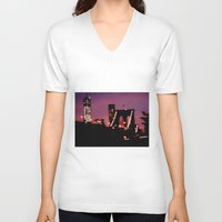 brooklyn bridge V-neck T-shirts featuring Brooklyn Bridge by I Take Pictures Sometimes