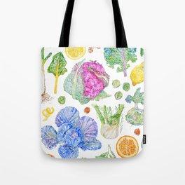 Winter Harvest Watercolour - White Tote Bag