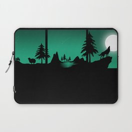 The sheep and the wolf in the woods Laptop Sleeve