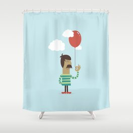 Balloon Man Shower Curtain