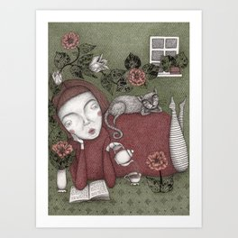 Staying Home  Art Print