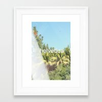 helvetica Framed Art Prints featuring Helvetica by Michelle Auerbach
