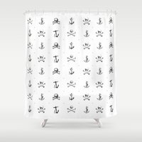 pirates Shower Curtains featuring Pirates by very giorgious