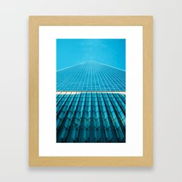 The Blue Architecture (Color) Framed Art Print