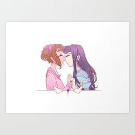 Sakura Smooches Art Print