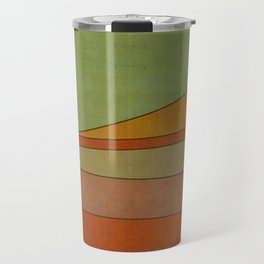"""Colorful Abstract Landscape"" Travel Mug"