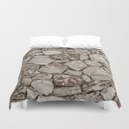 Old Rustic Stone Wall Duvet Cover