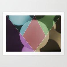 colour dimonds Art Print