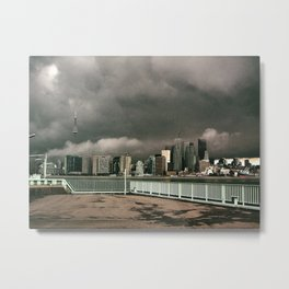 Storm on the Harbour Metal Print