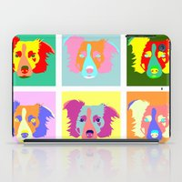 border collie iPad Cases featuring Border Collie Pop Art by Pound Designs
