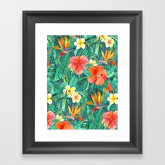 Classic Tropical Garden Framed Art Print