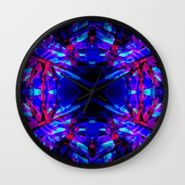 Dark kaleidoscope pattern Wall Clock