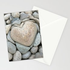 heart love stones in the quarry Stationery Cards